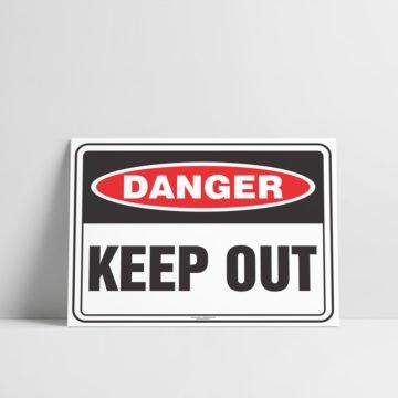 Keep Out Sign Danger Sign - Hazard Signs NZ