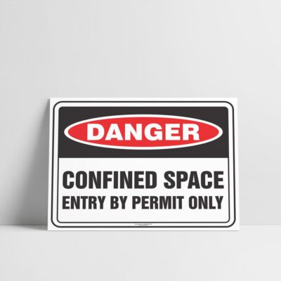 Confined Space Sign - Danger Sign - Hazard Signs NZ