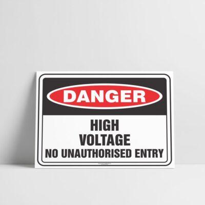 High Voltage No Unauthorised Entry Sign - Hazard Signs NZ