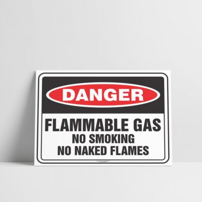 Flammable Gas Sign - Hazard Signs NZ