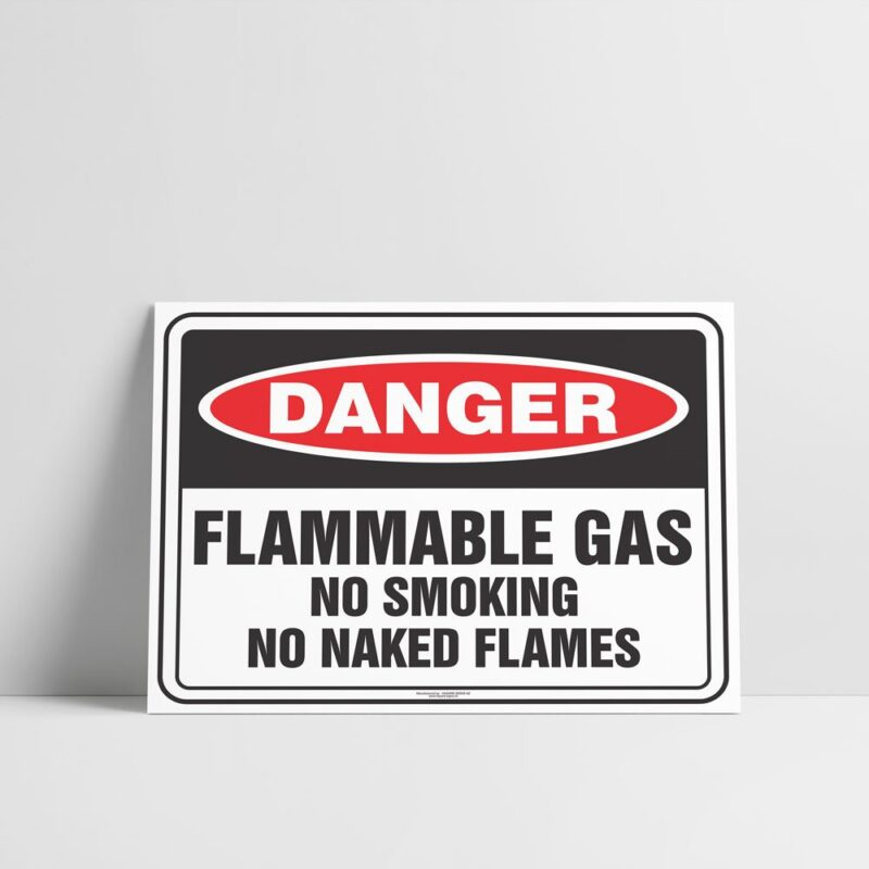 Flammable Gas Sign - Hazard Signs NZ