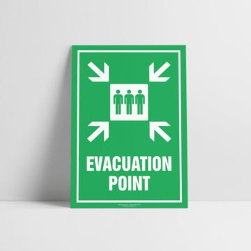 Evacuation Point Sign - Emergency Sign - Hazard Signs NZ