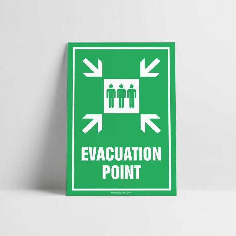 Evacuation Point Sign - Emergency Sign - Hazard Signs NZ