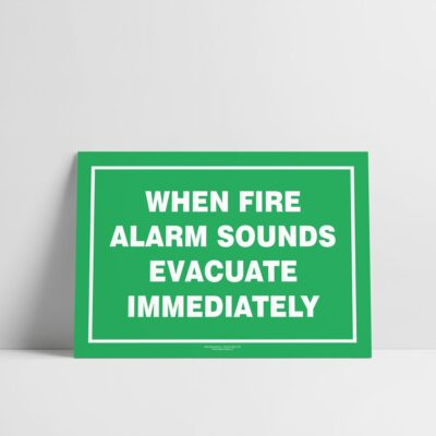 Evacuation procedure sign - Emergency sign - Hazard Signs NZ
