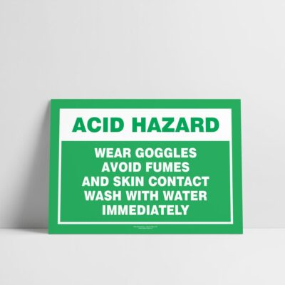 Acid Hazard Sign - Emergency Sign - Hazard Signs NZ