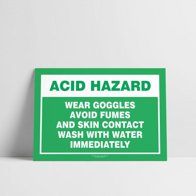 Acid Hazard Sign - Emergency Sign - Hazard Signs NZ