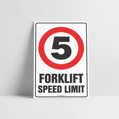 Forklift Speed Limit Sign - Forklift Signs - Hazard Sign NZ