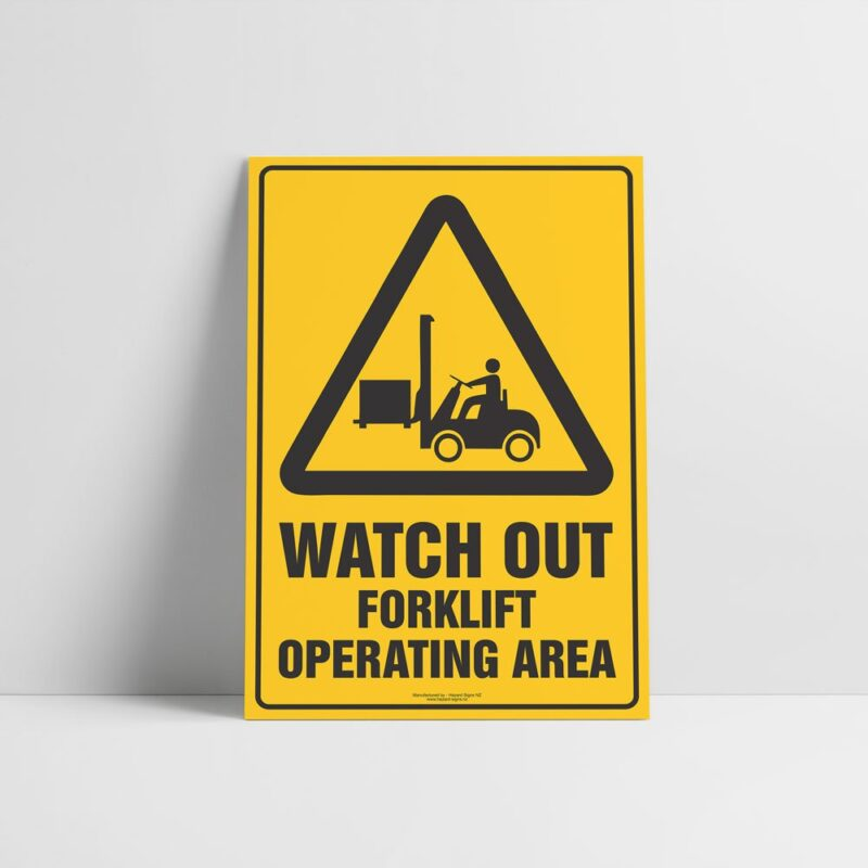 Forklift Operating Area Sign - Forklift Signs - Hazard Sign NZ