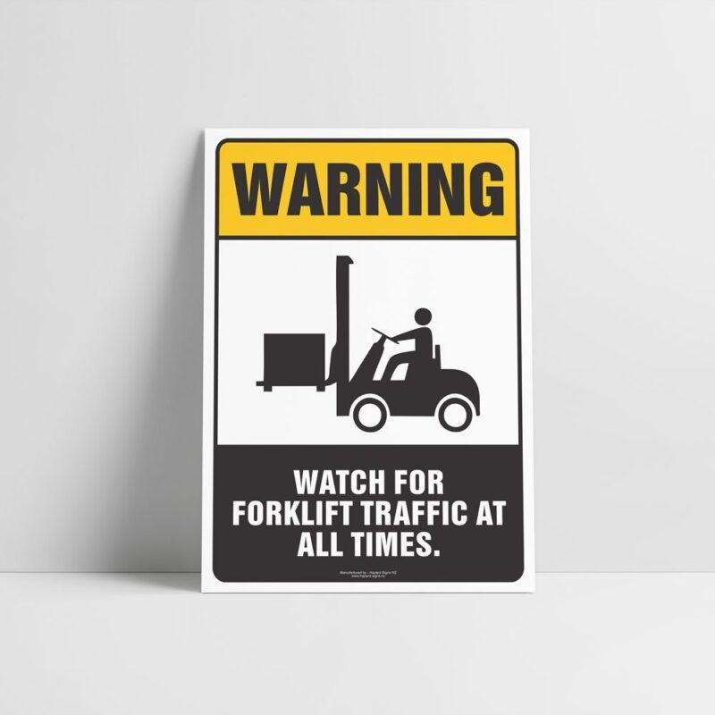 Watch For Forklift Traffic Sign - Hazard Sign NZ