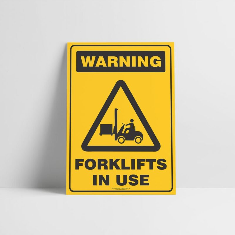 Warning Forklifts In Use Sign - Hazard Sign NZ