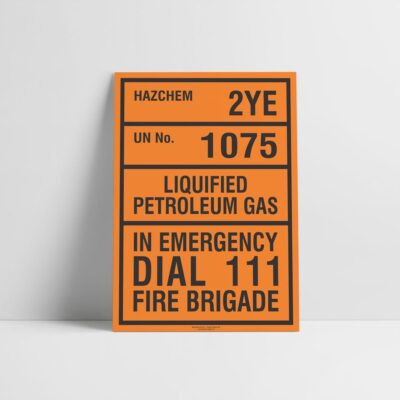 Liquified Petroleum Gas Sign - Hazchem Sign - Hazard Signs NZ