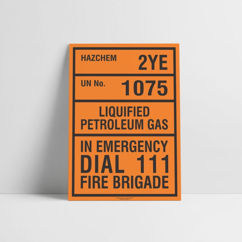Liquified Petroleum Gas Sign - Hazchem Sign - Hazard Signs NZ