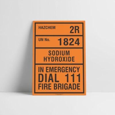 Sodium Hydroxide Hazchem Sign - Hazard Signs NZ