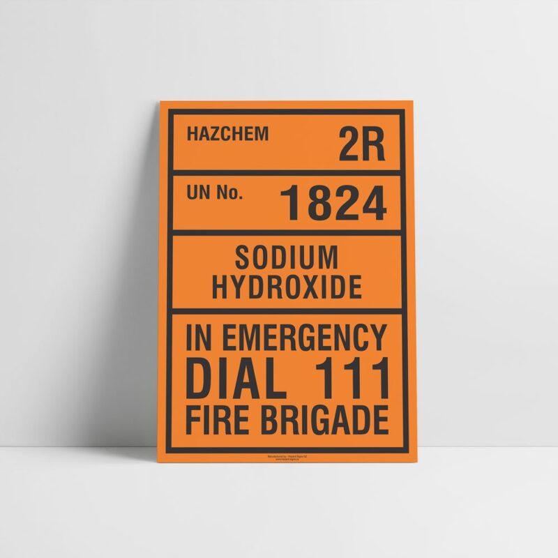 Sodium Hydroxide Hazchem Sign - Hazard Signs NZ