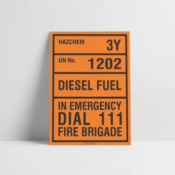 Diesel Hazchem Sign - Hazard Signs NZ