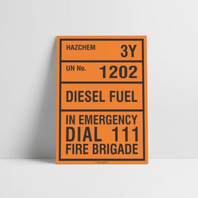 Diesel Hazchem Sign - Hazard Signs NZ