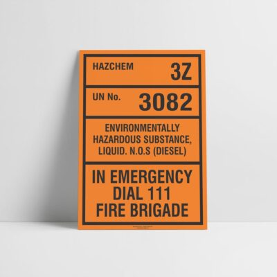 Environmentally Hazardous Substance Hazchem Sign - Hazard Signs NZ