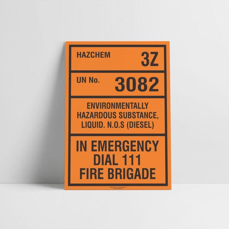 Environmentally Hazardous Substance Hazchem Sign - Hazard Signs NZ