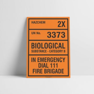 Biological Substance Hazchem Sign - Hazard Signs NZ