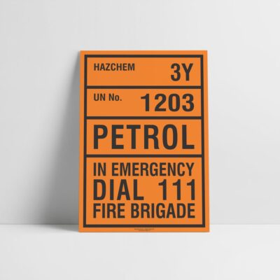Petrol Hazchem Sign - Hazard Signs NZ