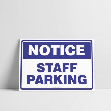 Staff parking sign - Notice/Information Sign - Hazard Sign NZ