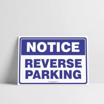Reverse Parking Sign - Notice/Information Signs - Hazard Sign NZ