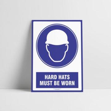 Hard Hats Must Be Worn Sign - Mandatory Signs