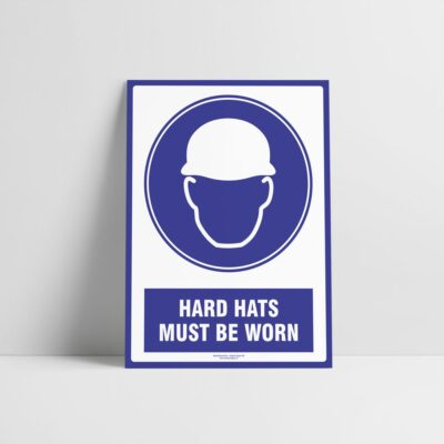 Hard Hats Must Be Worn Sign - Mandatory Signs - Hazard Signs NZ