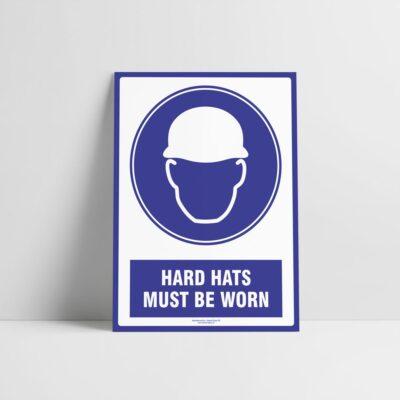 Hard Hats Must Be Worn Sign - Mandatory Signs - Hazard Signs NZ