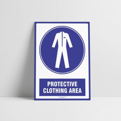 Protective Clothing Area Sign - Mandatory Signs - Hazard Signs NZ