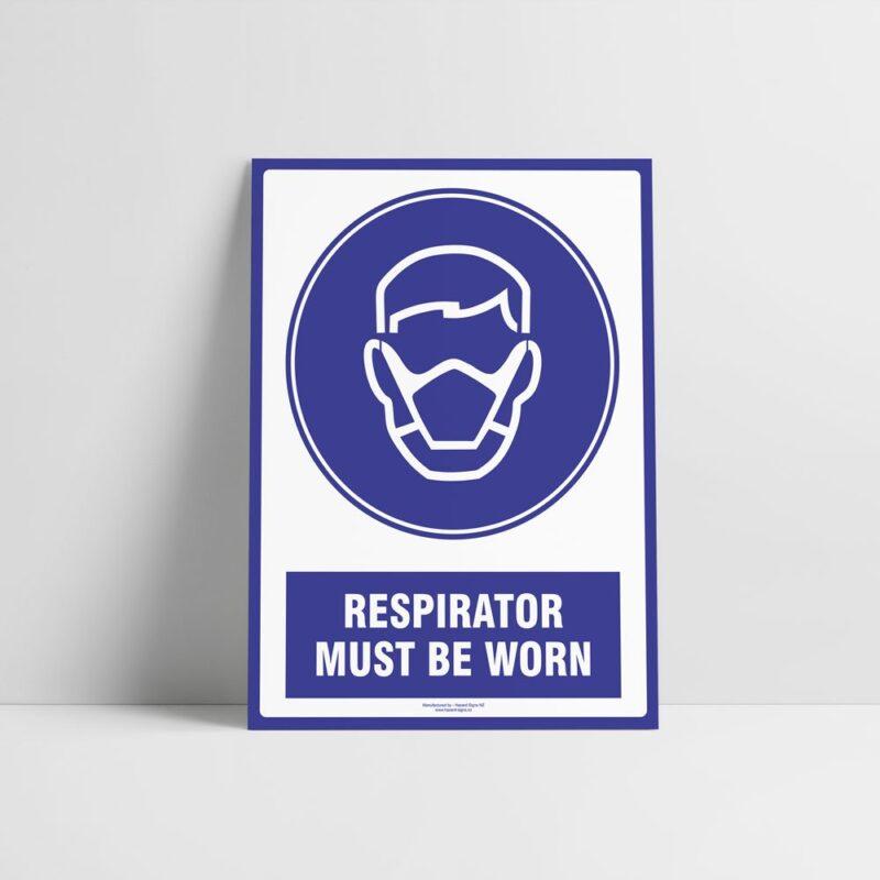 Respirator Must Be Worn Sign - Mandatory Sign - Hazard Signs NZ