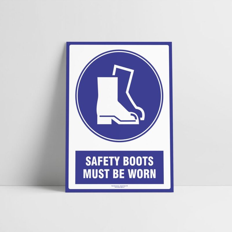 Safety Boots Sign - Safety Boots Must Be Worn Sign - Mandatory Signs - Hazard Signs NZ