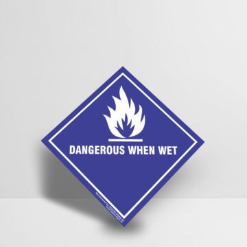 Dangerous When Wet Sign - Hazard Signs NZ