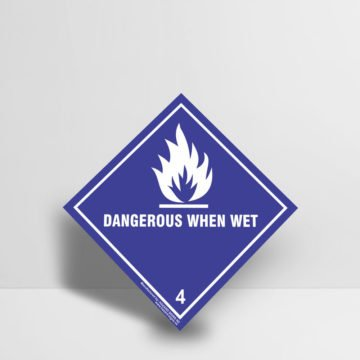 Dangerous When Wet Sign Class 8 - Hazard Signs NZ