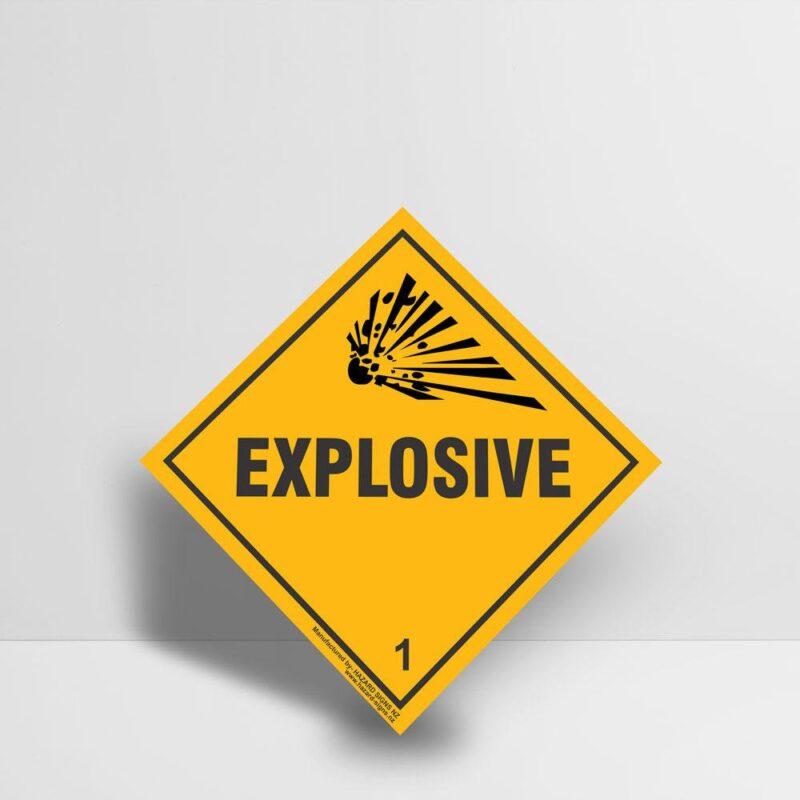 Explosive Sign - Hazard Signs NZ