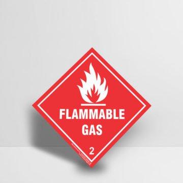 Flammable Gas Sign Class 2 - Hazard Signs NZ