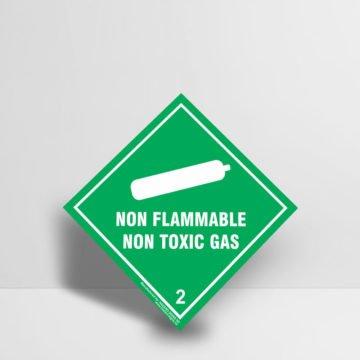 Non Flammable Gas Sign - Non Flammable Non Toxic Gas Sign Class 2 Hazard Signs NZ