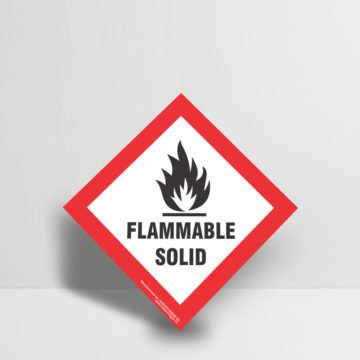 Flammable Solid Sign - Hazard Signs NZ