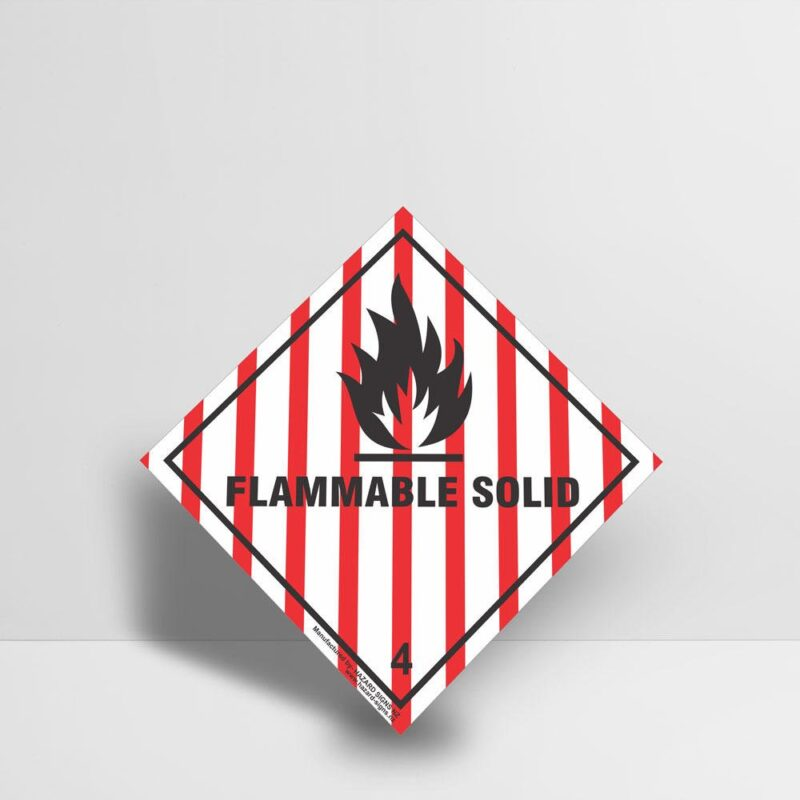 Flammable Solid Sign Class 4 - Hazard Signs NZ