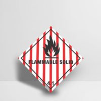 DSS3011_Diamond_Shape_Sign_Flammable_Solid_4.1