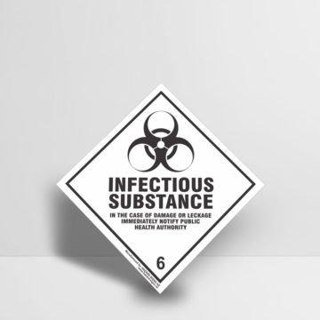 Infectious Substance Sign Class 6 - Hazard Signs NZ