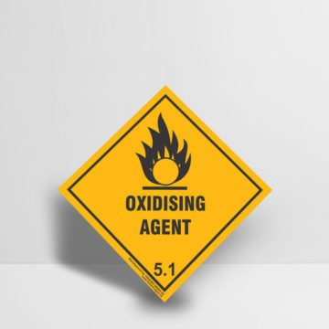 Oxidising Agent Sign class 5.1 - Hazard Signs NZ