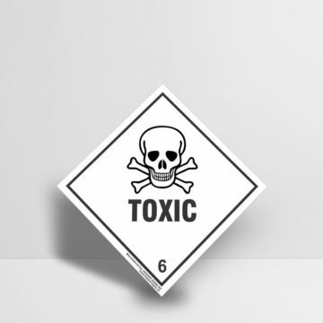 Toxic Sign class 6 - Hazard Signs NZ