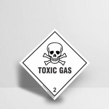 Toxic Gas Sign Class 2 - Hazard Signs NZ