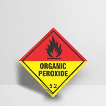 Organic Peroxide Sign - Hazard Signs NZ