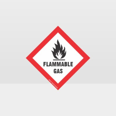 Class 2 Flammable Gas Sign