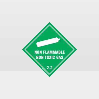 Class 2.2 Non-Flammable Non-Toxic Gas Sign