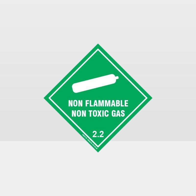 Class 2.2 Non-Flammable Non-Toxic Gas Sign