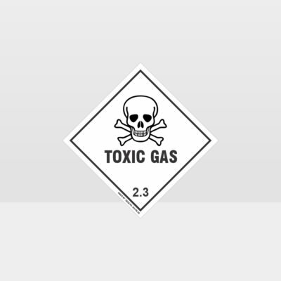 Class 2.3 Toxic Gas Sign