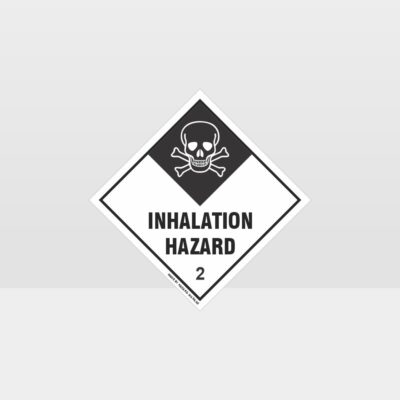 Class 2 Inhalation Hazard Sign